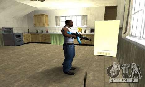 Blue Scan AK-47 para GTA San Andreas terceira tela