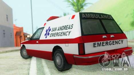 Premier Ambulance para GTA San Andreas esquerda vista