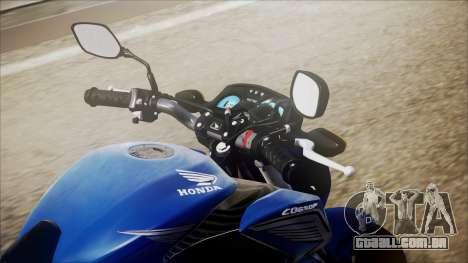 Honda CB650F Azul para GTA San Andreas vista traseira