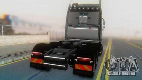 Volvo FH Euro 6 Heavy 8x4 para GTA San Andreas vista interior