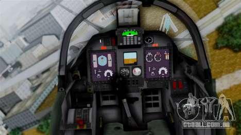 Embraer EMB-314 Super Tucano (FAP) para GTA San Andreas vista traseira