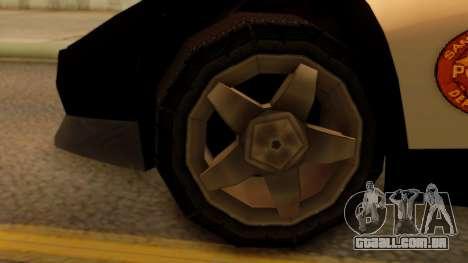 Lamborghini Diablo Police SA Style para GTA San Andreas traseira esquerda vista