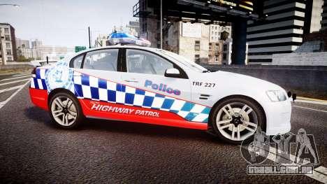 Holden Commodore SS Highway Patrol [ELS] para GTA 4 esquerda vista