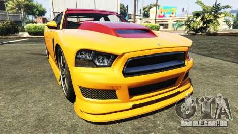 GTA 5 Bravado Buffalo Dodge Charger traseira direita vista lateral