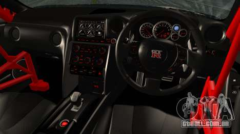 Nissan GT-R R35 Black Rock Shooter Itasha para GTA San Andreas traseira esquerda vista