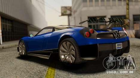Pegassi Osyra Extra 1 para GTA San Andreas esquerda vista