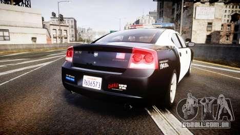 Dodge Charger 2010 LAPD [ELS] para GTA 4 traseira esquerda vista