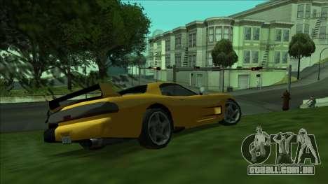 ZR-350 Double Lightning para GTA San Andreas traseira esquerda vista