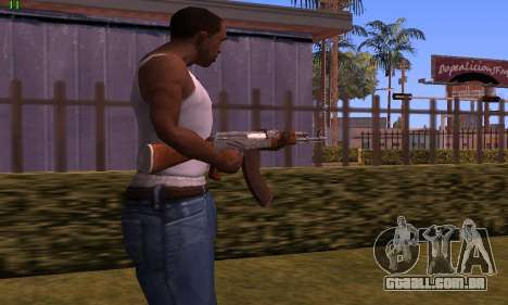 AK-47 from Battlefield Hardline para GTA San Andreas segunda tela