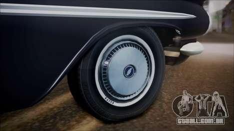 Chevrolet Impala 1959 para GTA San Andreas vista direita