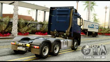Mercedes-Benz Actros MP4 6x4 Exclucive Interior para GTA San Andreas esquerda vista