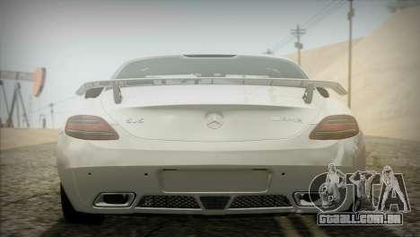 Mercedes-Benz SLS AMG 2013 para GTA San Andreas vista traseira