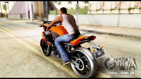 Kawasaki Z250SL Orange para GTA San Andreas esquerda vista