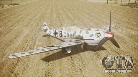 Messerschmitt BF-109 E-4 IJAAF para GTA San Andreas traseira esquerda vista