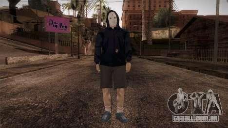 Mercenário máfia na capa e máscara para GTA San Andreas segunda tela