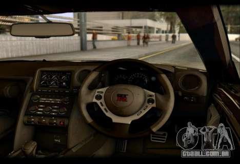 Nissan GTR-R35 Rocket Bunny para GTA San Andreas vista traseira