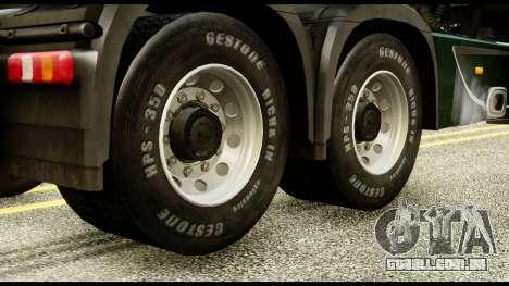 Mercedes-Benz Actros MP4 6x4 Standart Interior para GTA San Andreas traseira esquerda vista