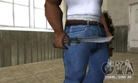 Butterfly Knife para GTA San Andreas terceira tela