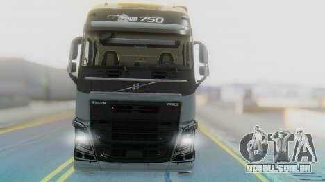Volvo FH Euro 6 Heavy 8x4 para GTA San Andreas vista traseira