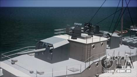 Type 34 Destroyer para GTA San Andreas vista traseira