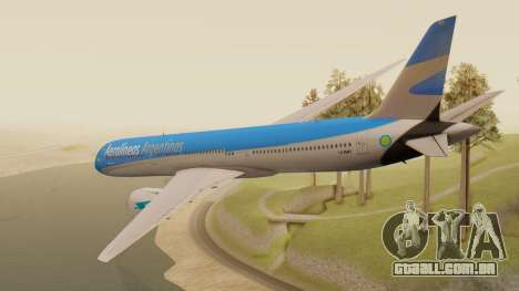 Boening 737 Argentina Airlines para GTA San Andreas esquerda vista