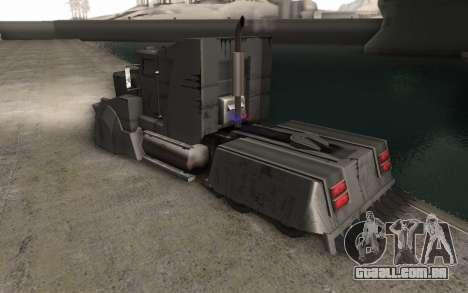 O Mad Max Caminhão para GTA San Andreas esquerda vista