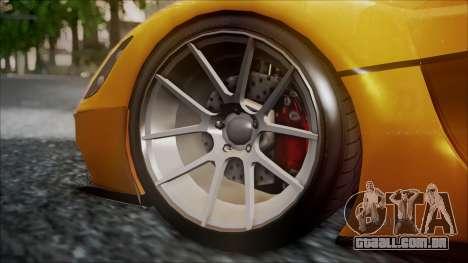 Grotti Turismo RXX-K para GTA San Andreas traseira esquerda vista