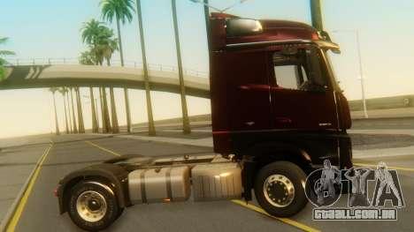 Mercedes-Benz Actros MP4 Stream Space Black para GTA San Andreas traseira esquerda vista