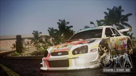 Subaru Impreza 2003 Love Live Muse Team Itasha para GTA San Andreas vista superior