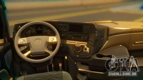 Mercedes-Benz Actros MP4 Stream Space Black para GTA San Andreas vista traseira