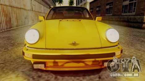 Porsche 911 Turbo (930) 1985 Kit C PJ para GTA San Andreas vista interior