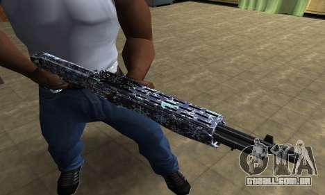 Snowflake Combat Shotgun para GTA San Andreas terceira tela