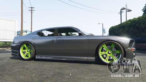 GTA 5 Bravado Buffalo Dodge Charger vista lateral esquerda