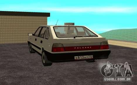 Daewoo FSO Polonez Caro Plus para GTA San Andreas esquerda vista