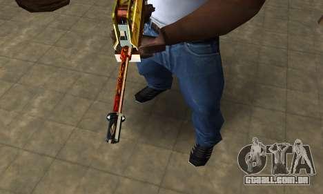 Golden AUG A3 para GTA San Andreas segunda tela