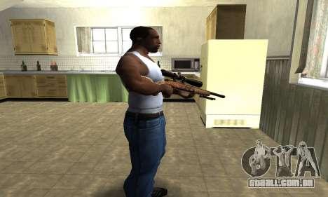 Gold Sniper Rifle para GTA San Andreas segunda tela