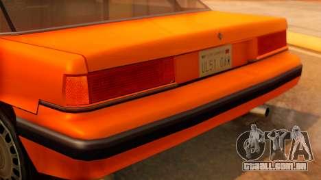 Taxi Intruder para GTA San Andreas vista traseira
