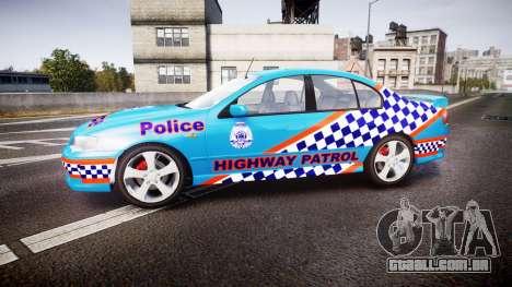 Ford Falcon BA XR8 Police [ELS] para GTA 4 esquerda vista