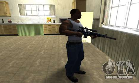 Blue Oval Sniper Rifle para GTA San Andreas terceira tela