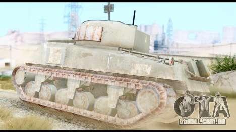 M4 Sherman 75mm Gun Urban para GTA San Andreas esquerda vista