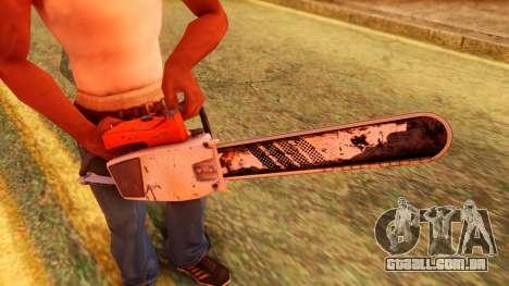 Atmosphere Chainsaw para GTA San Andreas terceira tela