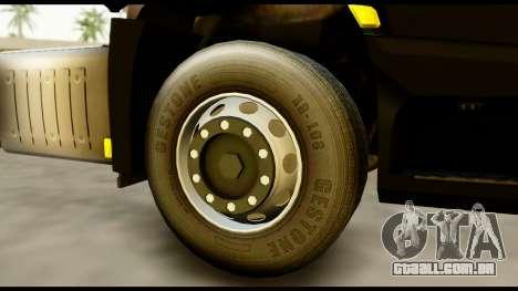 Mercedes-Benz Actros MP4 4x2 Exclusive Interior para GTA San Andreas traseira esquerda vista