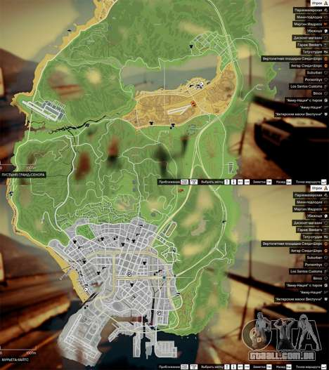 Mapa de cores v0.2 para GTA 5