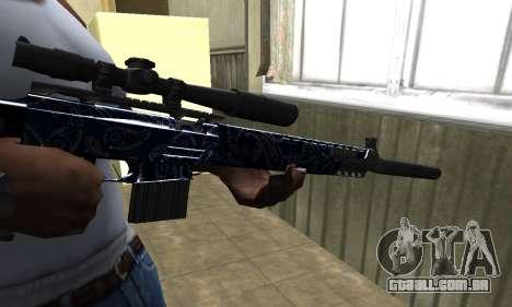 Blue Oval Sniper Rifle para GTA San Andreas