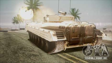 Call of Duty 4: Modern Warfare BMP-2 para GTA San Andreas esquerda vista