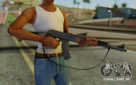 AK-47S with Strap para GTA San Andreas terceira tela