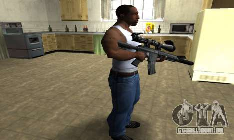 M4 with Optical Scope para GTA San Andreas terceira tela