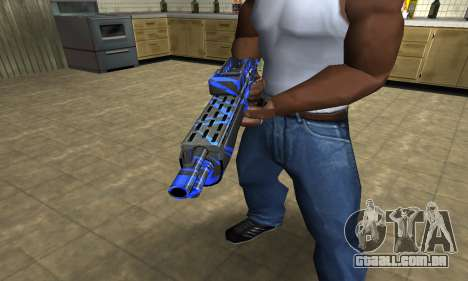 Blue Lines Combat Shotgun para GTA San Andreas segunda tela