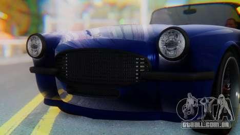 Invetero Coquette BlackFin v2 GTA 5 Plate para GTA San Andreas interior