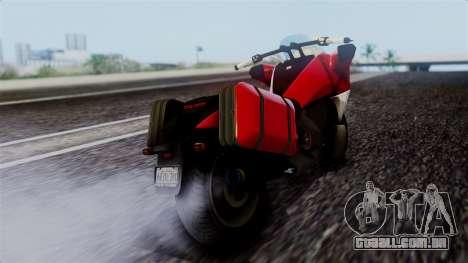 Dinka Vindicator SA Plate para GTA San Andreas esquerda vista